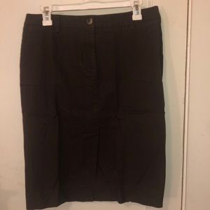 Isaac Mizrahi brown knee skirt